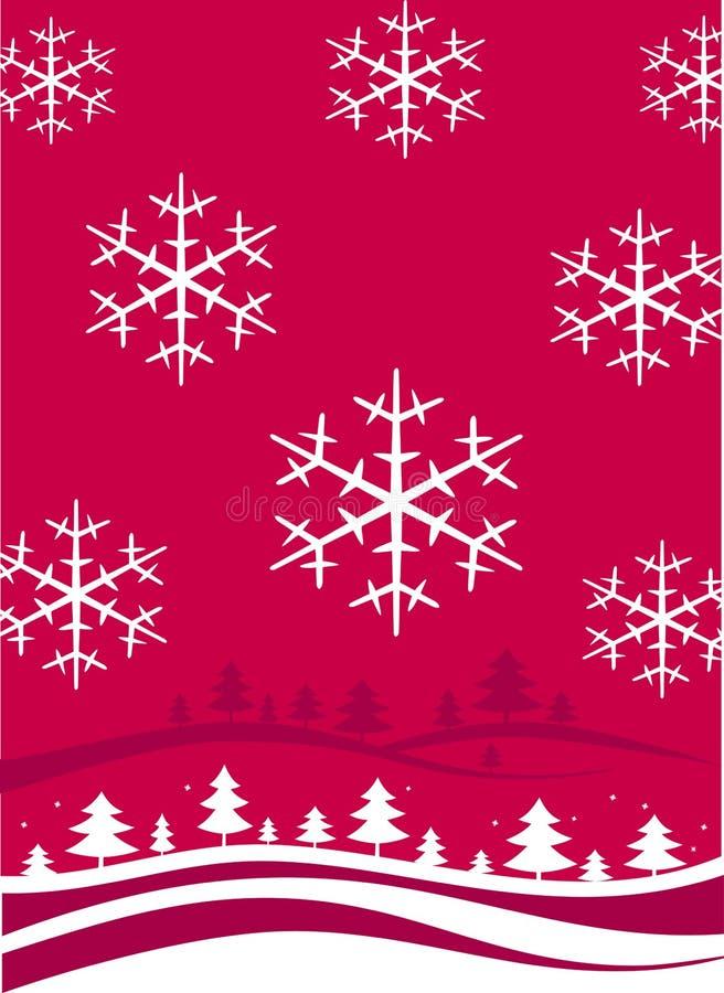 Paisaje de la Navidad del invierno stock de ilustración