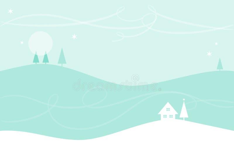Paisaje de la Navidad/del invierno libre illustration