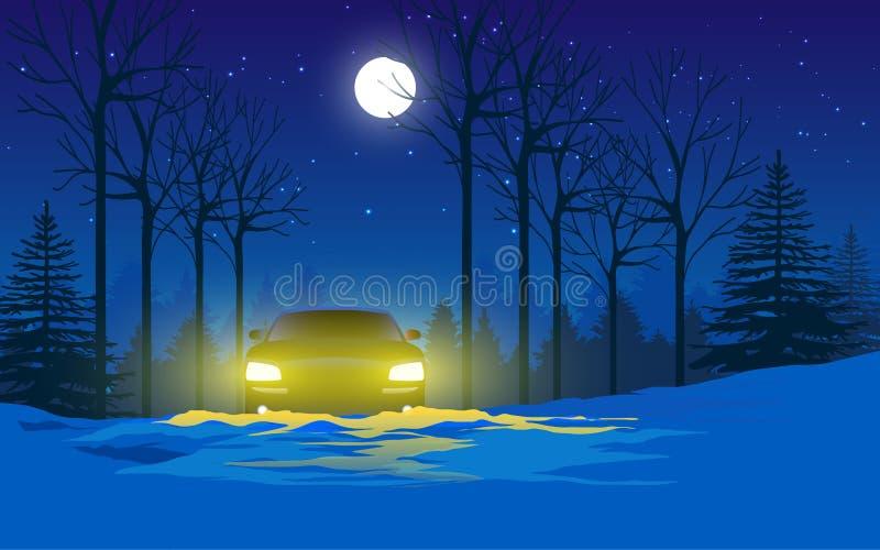Paisaje de la nieve stock de ilustración