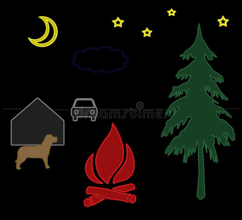 Paisaje de la noche libre illustration