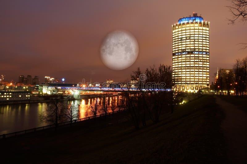 Paisaje de la noche de Moscú foto de archivo libre de regalías