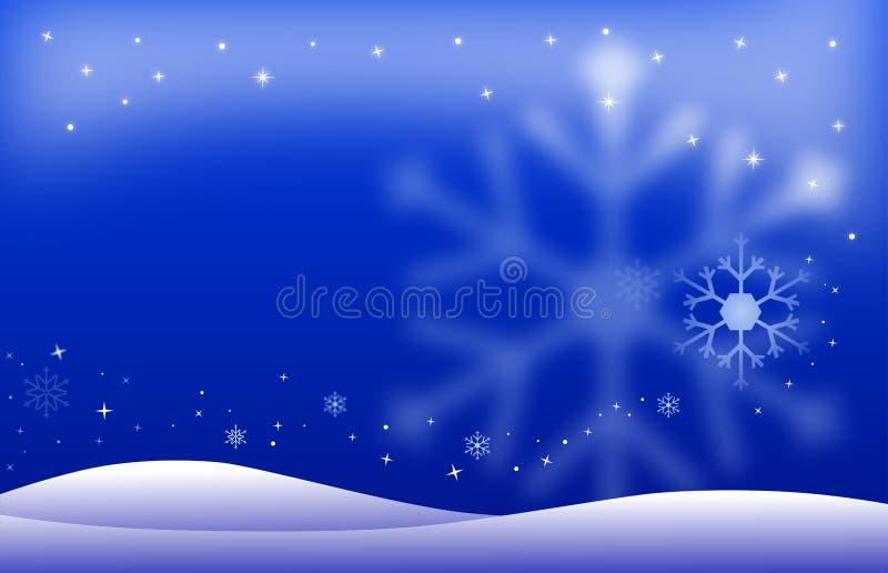 Paisaje de la noche del invierno libre illustration