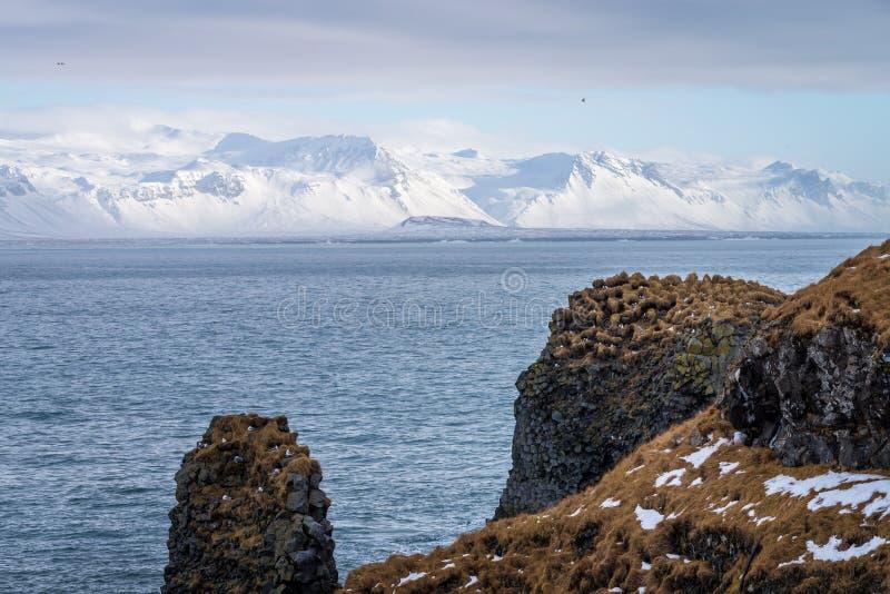 Paisaje de la península de Snaefellsnes, Islandia imagen de archivo