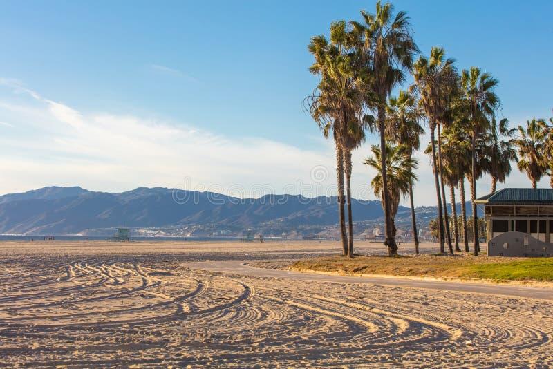 Paisaje de la playa de Venecia, Los Ángeles imágenes de archivo libres de regalías
