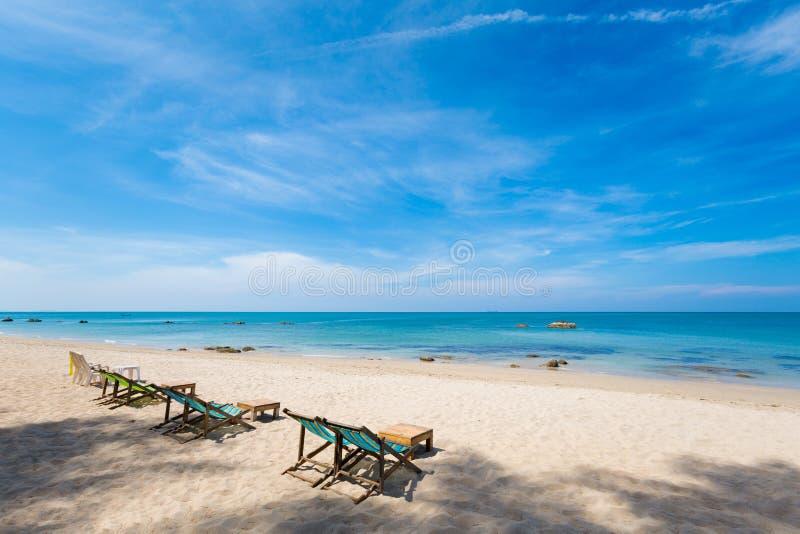 Paisaje de la playa de Koh Lanta Klong Nin fotos de archivo