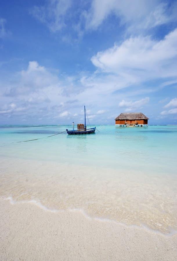Paisaje de la playa, Maldives imagenes de archivo