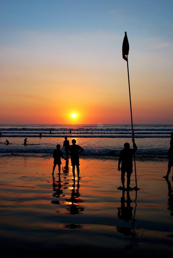 Paisaje de la puesta del sol foto de archivo libre de regalías