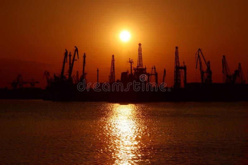 Paisaje de la puesta del sol del mar imágenes de archivo libres de regalías