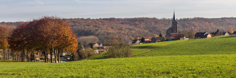 Paisaje de la región meridional de Limburgo en los Países Bajos foto de archivo libre de regalías