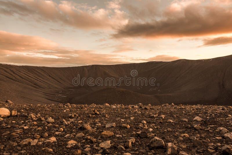 Paisaje de la superficie de Marte imágenes de archivo libres de regalías