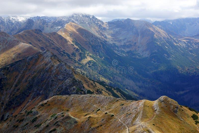Paisaje de las altas montañas de Tatras, Polonia foto de archivo