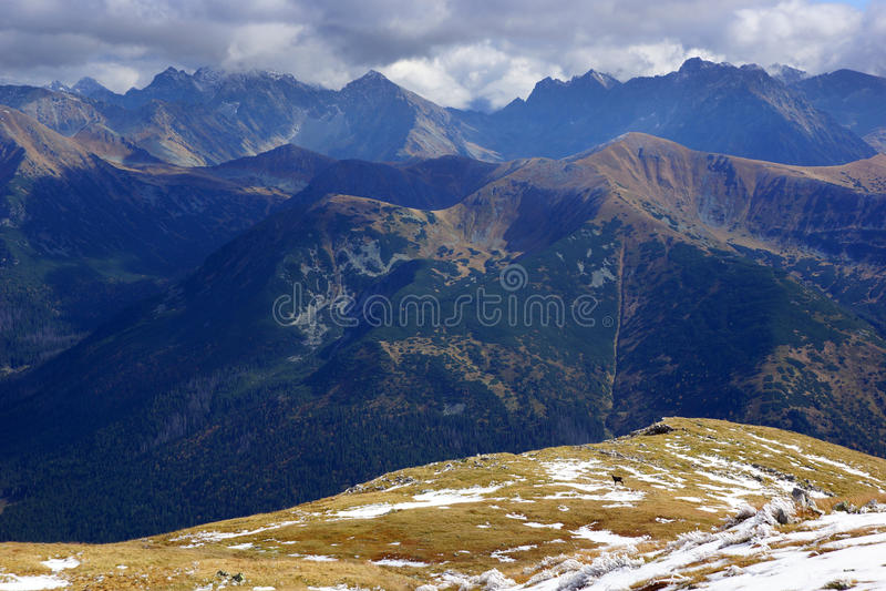 Paisaje de las altas montañas de Tatras, Polonia imagen de archivo