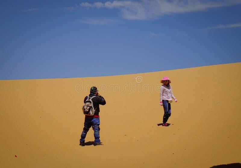 Paisaje de las dunas de arena en el día de verano imágenes de archivo libres de regalías