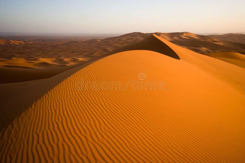 Paisaje de las dunas de arena fotografía de archivo