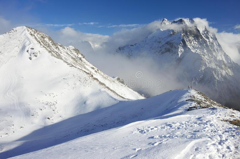 Paisaje de las montañas Nevado imagen de archivo libre de regalías