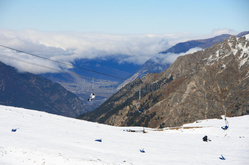 Paisaje de las montañas Nevado foto de archivo libre de regalías