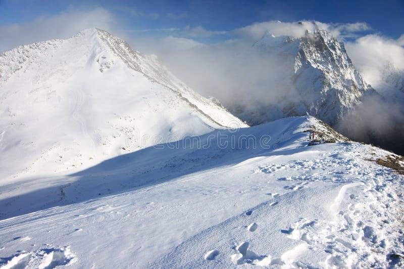 Paisaje de las montañas Nevado imágenes de archivo libres de regalías