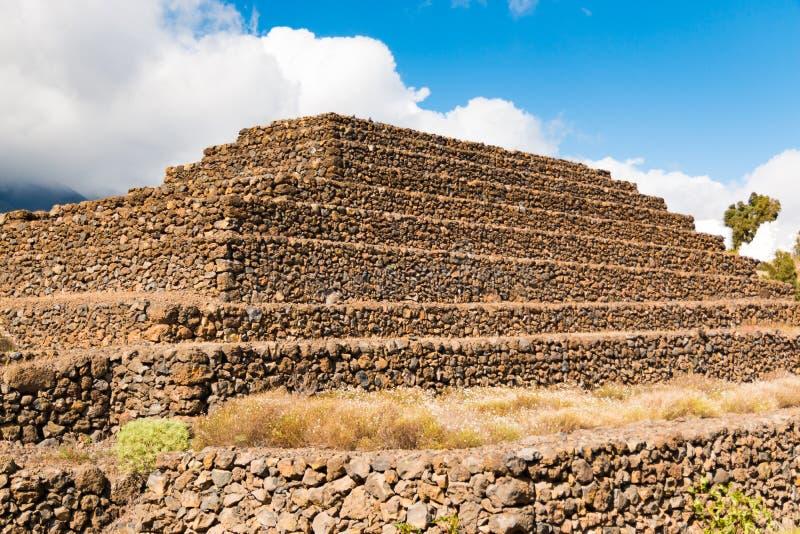 Paisaje de las pirámides de Guimar en Tenerife, islas Canarias imagen de archivo libre de regalías