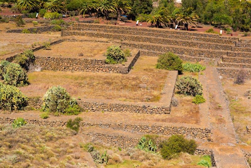 Paisaje de las pirámides de Guimar en Tenerife, islas Canarias fotos de archivo