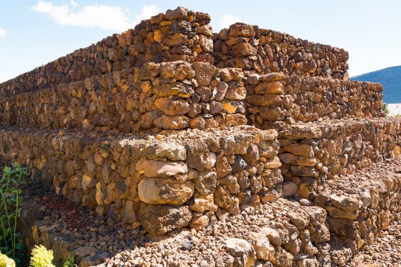 Paisaje de las pirámides de Guimar en Tenerife, islas Canarias imágenes de archivo libres de regalías