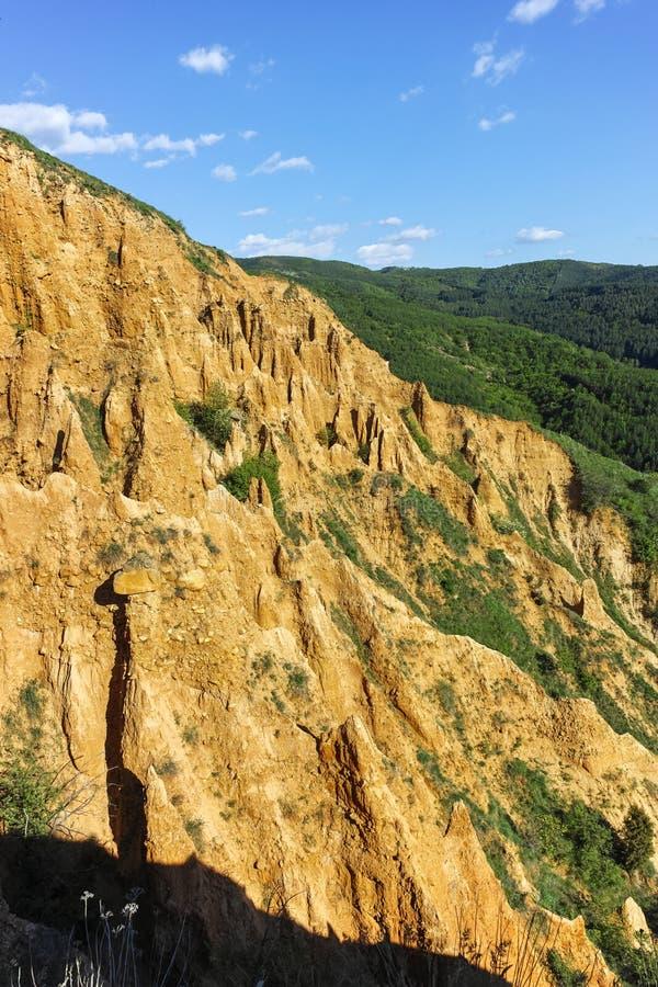 Paisaje de las pirámides de Stob de la formación de roca, montaña de Rila, región de Kyustendil imagen de archivo libre de regalías
