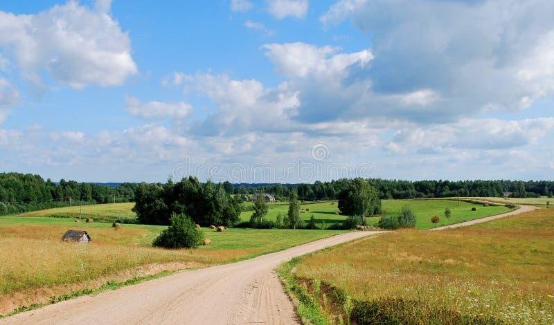 Paisaje de Letonia imagenes de archivo