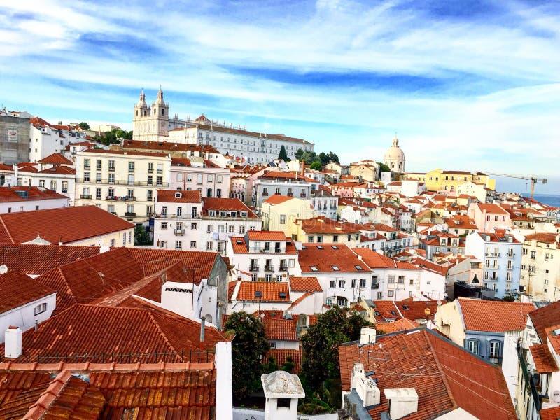 Paisaje de Lisboa desde arriba fotos de archivo libres de regalías