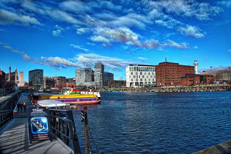 Paisaje de Liverpool imagen de archivo libre de regalías