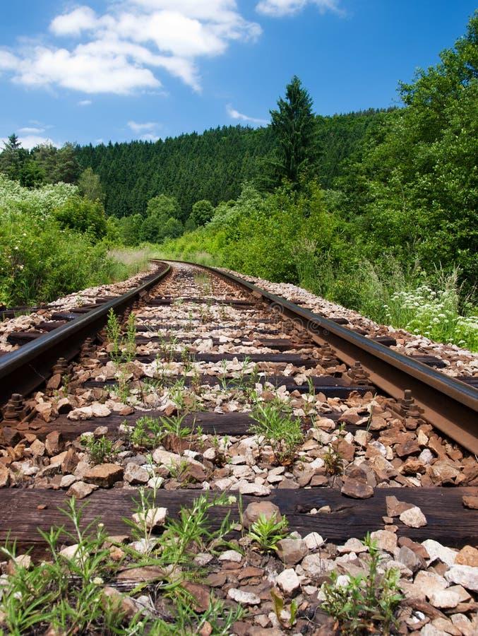 Paisaje de los ferrocarriles foto de archivo libre de regalías