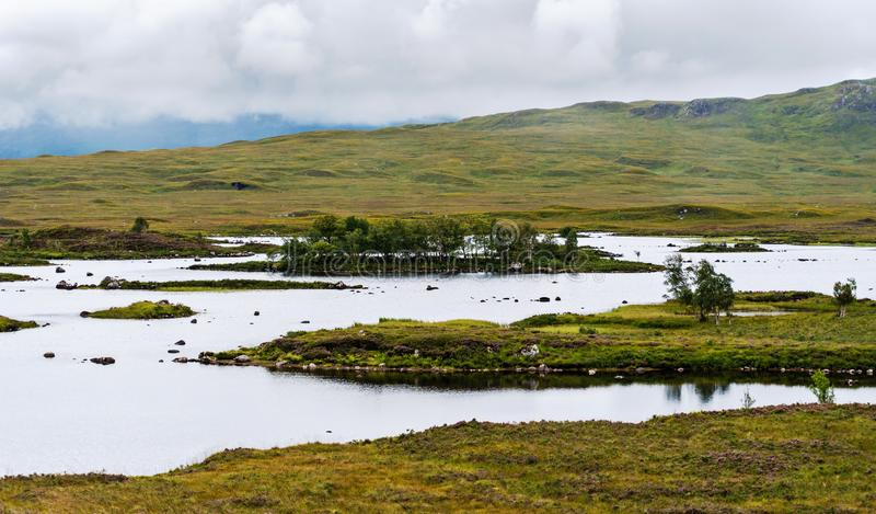 Paisaje de los humedales escoceses imagen de archivo libre de regalías