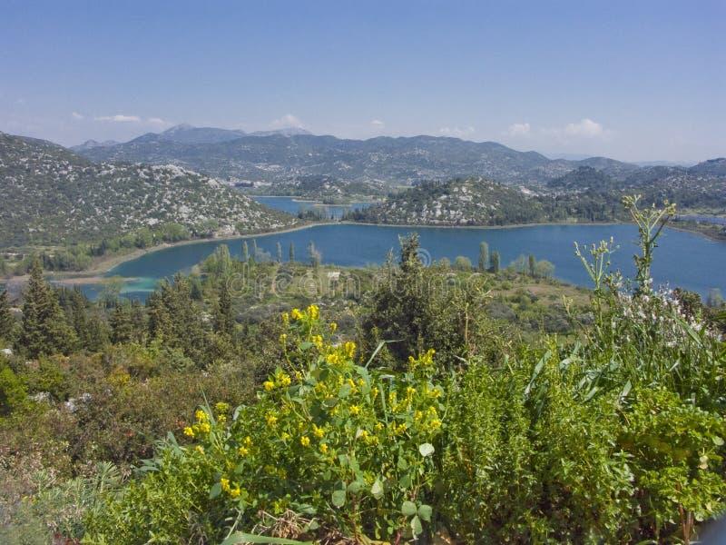 Paisaje de los lagos Bacina - lago en Croacia imagen de archivo