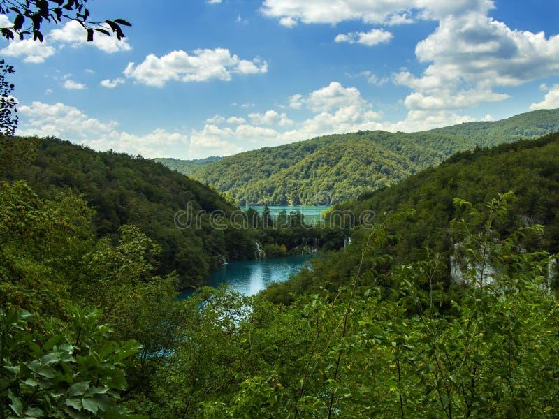 Paisaje de los lagos Plitvice imagenes de archivo