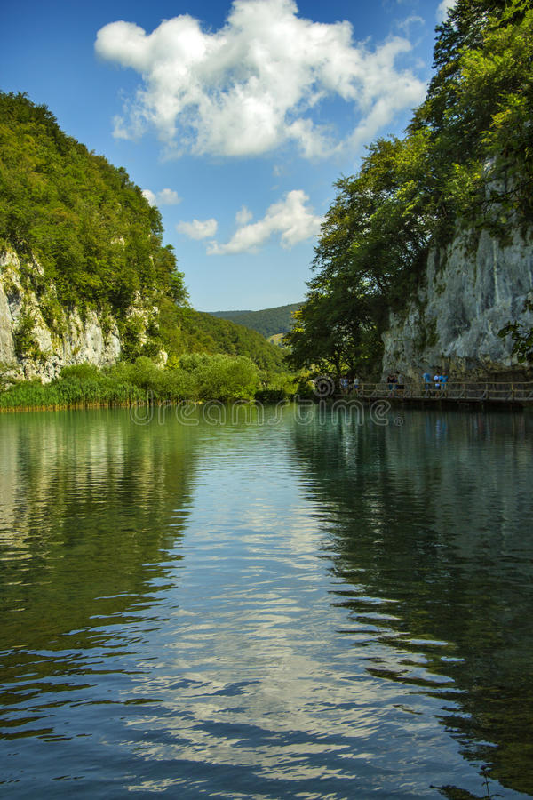 Paisaje de los lagos Plitvice imagen de archivo libre de regalías