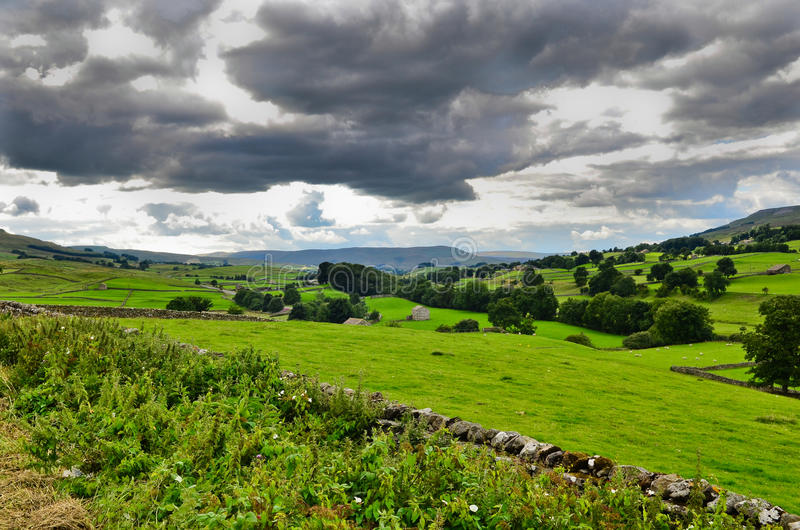 Paisaje de los valles de Yorkshire imágenes de archivo libres de regalías