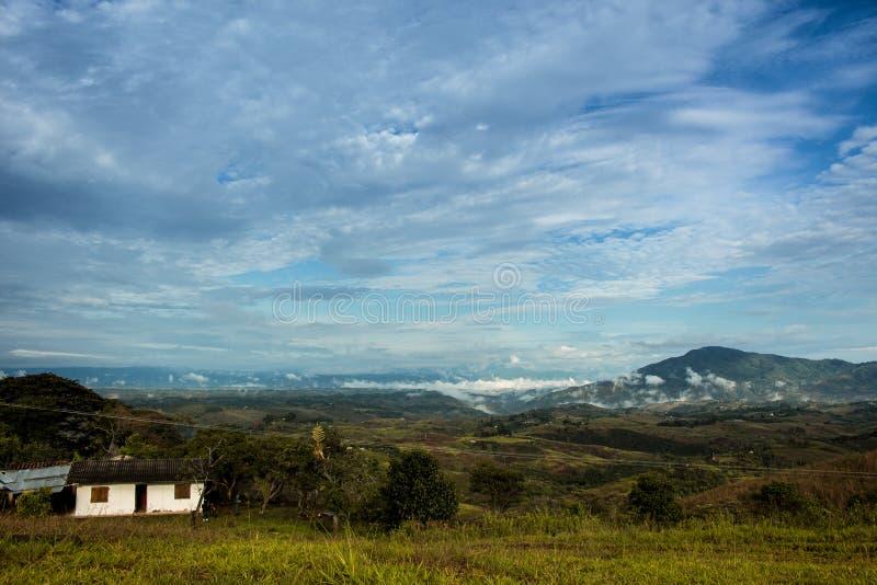 Paisaje de madrugada, Colombia fotografía de archivo