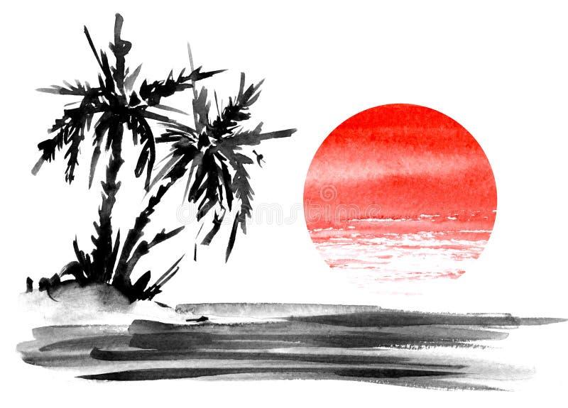Paisaje de Minimalistic E libre illustration