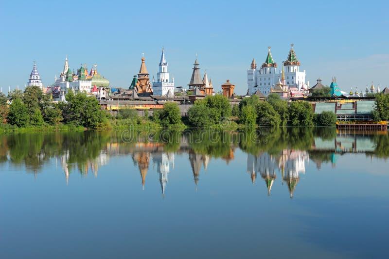 Paisaje de Moscú. Kremlin en Izmailovo. foto de archivo