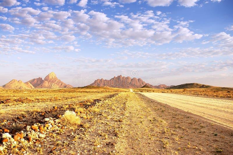 Paisaje de Namibia Spitzkoppe fotos de archivo libres de regalías