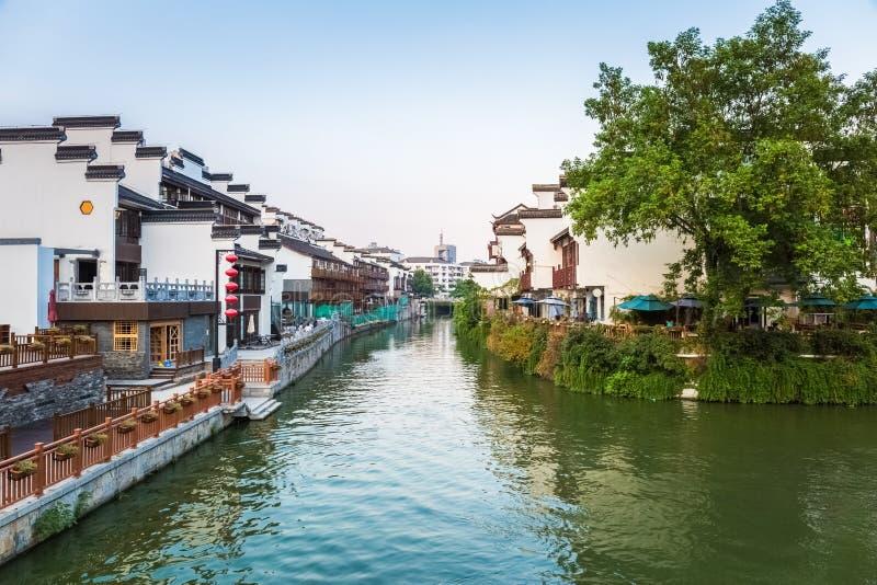 Paisaje de Nanjing del río del qinhuai imagen de archivo