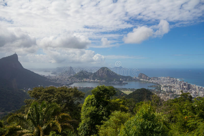 Paisaje de Rio de Janeiro, el Brasil fotografía de archivo