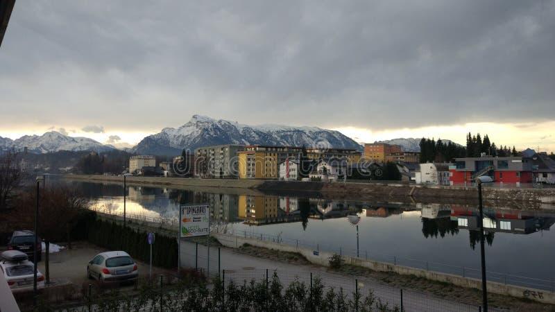Paisaje de Salzburg Austria fotos de archivo libres de regalías
