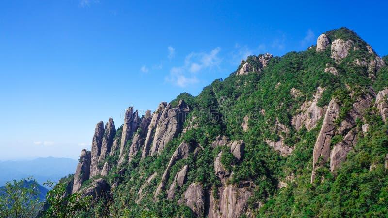 Paisaje de Sanqingshan del soporte de China fotos de archivo