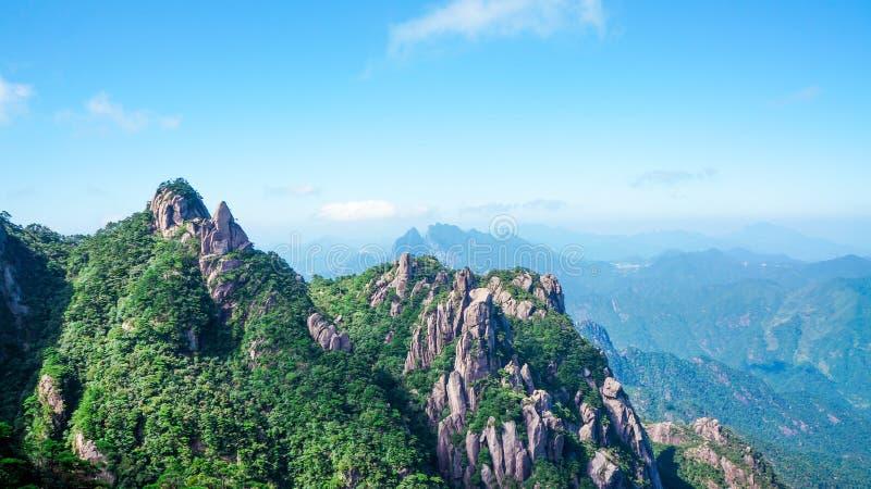 Paisaje de Sanqingshan del soporte de China fotografía de archivo