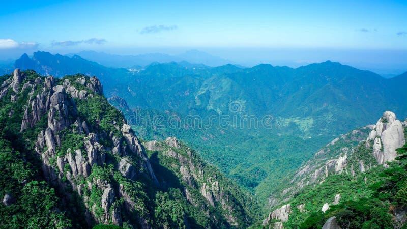 Paisaje de Sanqingshan del soporte de China imagen de archivo libre de regalías