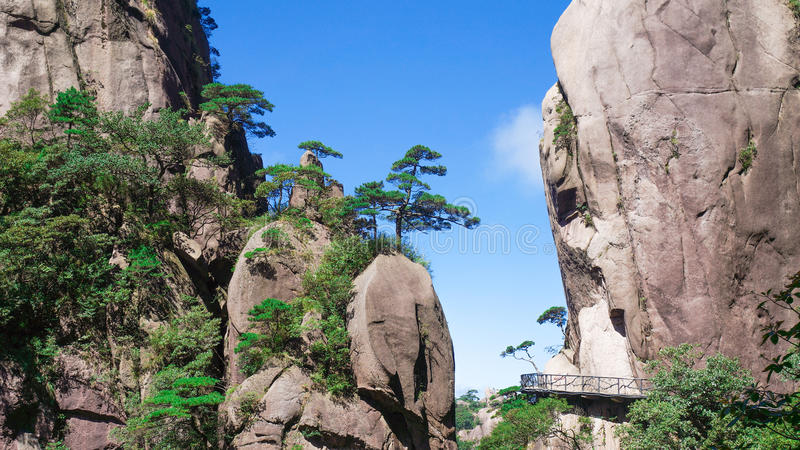 Paisaje de Sanqingshan del soporte de China imagenes de archivo