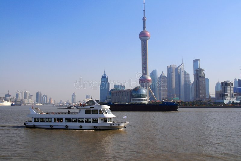 Paisaje de Shangai foto de archivo