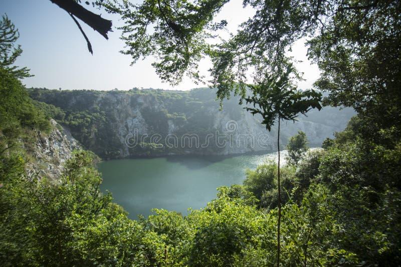 PAISAJE DE TAILANDIA CHONBURI GRAND CANYON imagenes de archivo