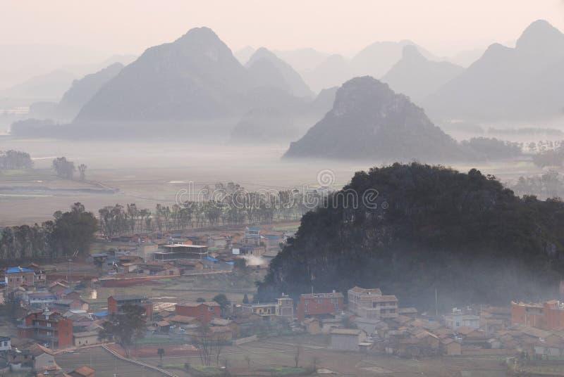 Paisaje de Yunnan imagenes de archivo