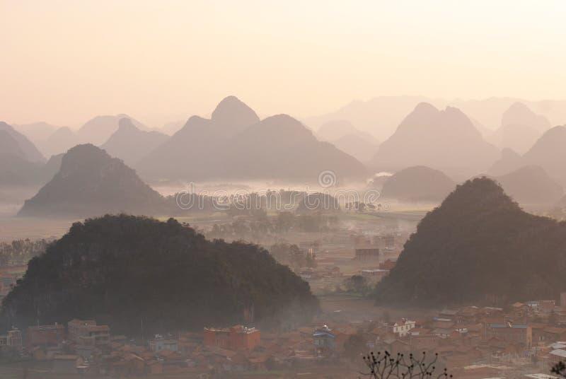 Paisaje de Yunnan fotos de archivo