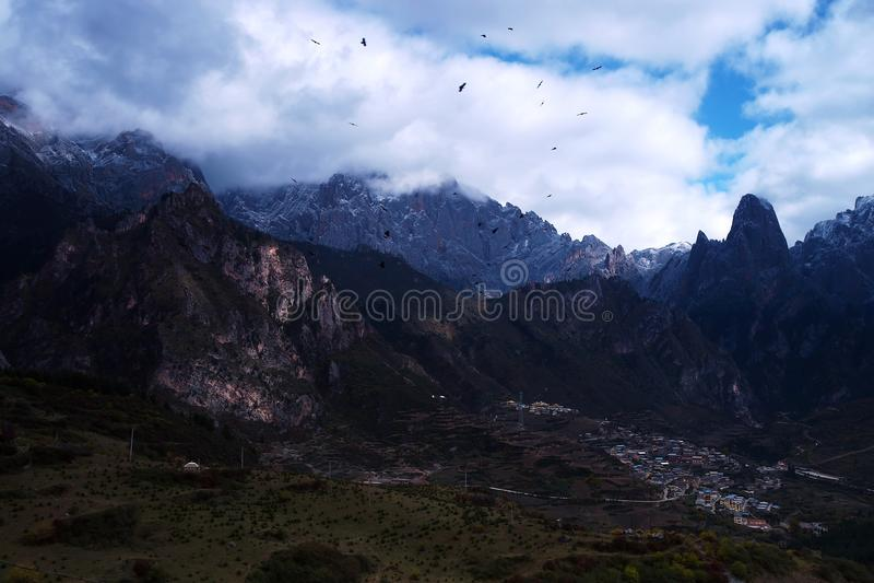 Paisaje de Zhagana en Gannan, ` s Gansu de China fotos de archivo libres de regalías